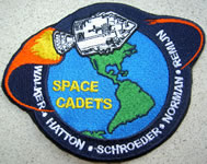 Apollo badge voor de SPACE CADETS